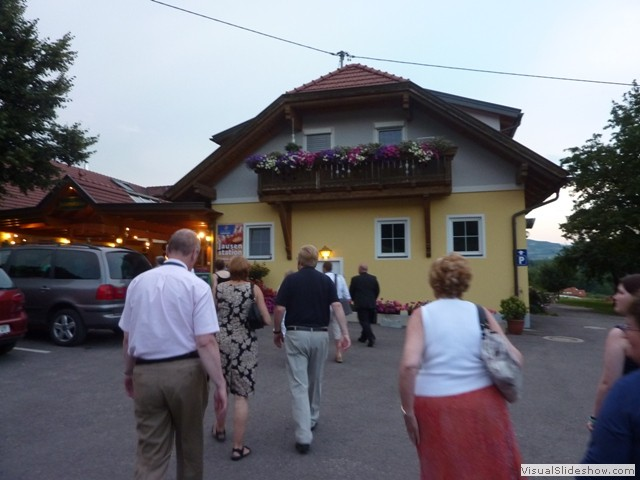 Arriving at the Gasthaus